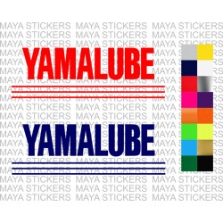 Yamalube logo stickers for Yamaha bikes and scooters