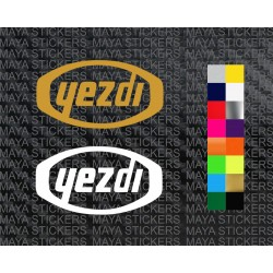 Yezdi logo sticker in custom colors and sizes ( 2 stickers)