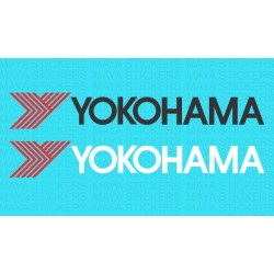 Yokohama tyres logo decal sticker ( Pair of 2 stickers)