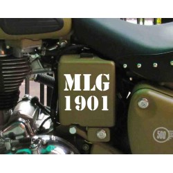 MLG 1901 - Made like a gun since 1901 stencil style sticker for RE