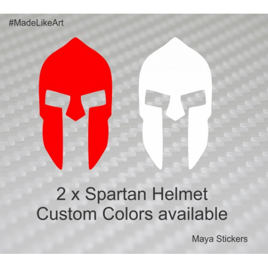 300 Movie Logo Spartan Helmet Sticker For Cars Bikes