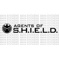 Avengers Agents of shield logo stickers for cars, bikes, laptop