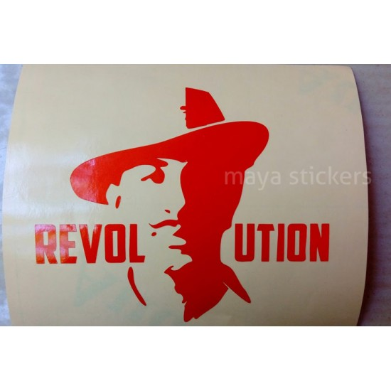 Stylish Bhagat Singh Stickers For Cars Bikes Laptop And
