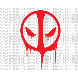 Deadpool vinyl decal / sticker for car, bikes and laptop. Available in custom colors and sizes