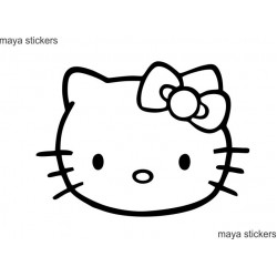 Hello kitty vinyl decal sticker for Cars, Bikes, Laptop and wall - Custom colors available