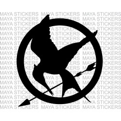Hunger games Mocking jay logo stickers for Cars, Bikes, Laptop