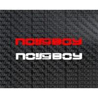 Noisy boy stickers. Pair of 2. Custom colors