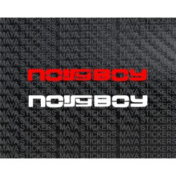 Noisy boy stickers. Pair of 2. Custom colors