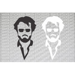 Rajinikanth sticker for Cars, Bikes and Laptop. Available in custom colors and sizes
