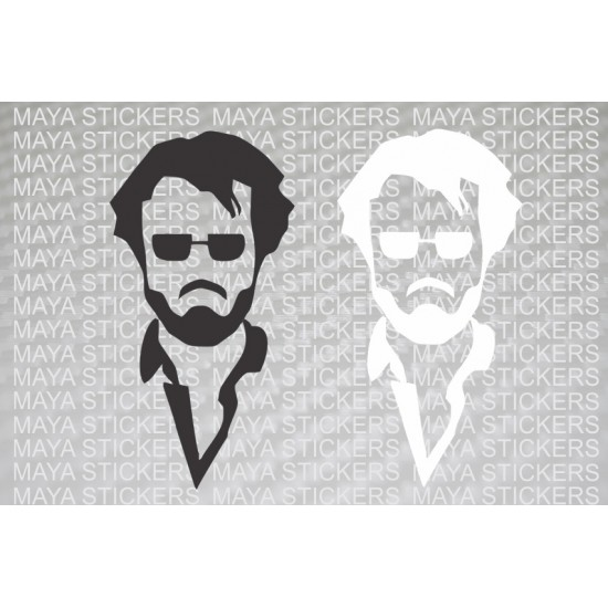 Rajinikanth sticker for cars bikes and laptop available in custom colors and sizes