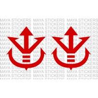 Saiyan Royal Symbol Logo Sticker For Cars Bikes Laptop 2 Stickers