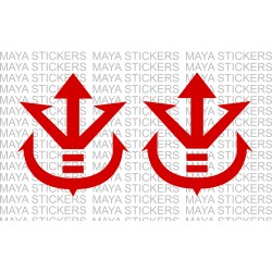 Saiyan Royal Crest Dragon ball Z stickers / decal for laptops, cars, and Bikes (pair of 2 Stickers)