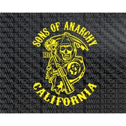 Sons of Anarchy  Reaper  sticker with custom city names