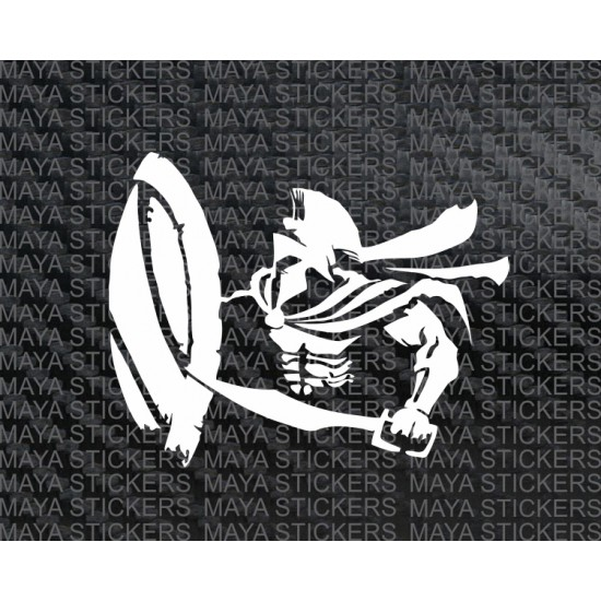 Spartan Warrior Vinyl Decal Sticker For Cars Bikes And Laptops