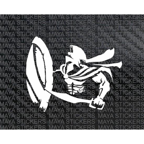 spartan warrior vinyl decal sticker for cars bikes and laptops. Black Bedroom Furniture Sets. Home Design Ideas