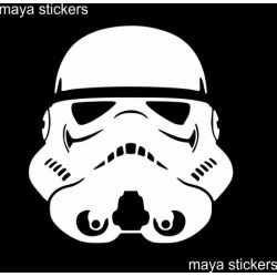 Stormtrooper sticker / decal for bikes, cars, laptop. Custom colors available