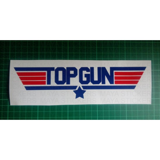 Top gun logo stickers decals for cars bikes laptop