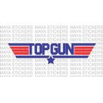 Top Gun logo stickers/ decals for cars, bikes, laptop