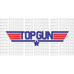 Top Gun logo stickers/ decals for cars, bikes, laptop