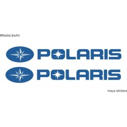 Polaris logo  sticker / decal for ATVs, Cars and bikes  (pair of 2 stickers)