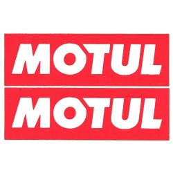 Motul logo sticker for bikes and cars (pair of 2 logo sticker / decals )