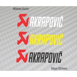 Akrapovic logo sticker / decal for KTM and other bikes (2 stickers)