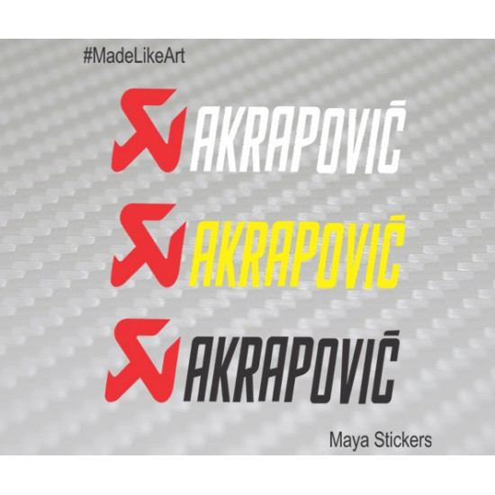Akrapovic logo sticker decal for ktm and other bikes 2 stickers