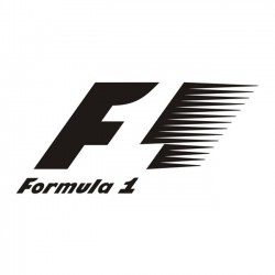 Formula 1 racing logo sticker / decal for cars and laptop