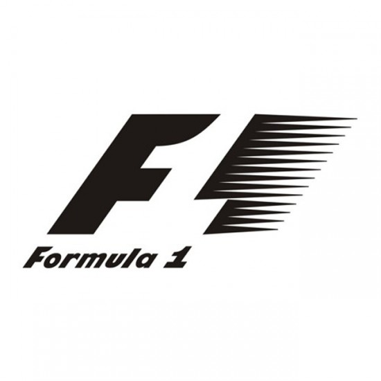 Formula 1 racing logo sticker decal for cars and laptop