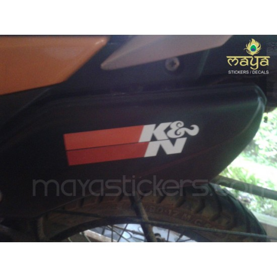 K and n kn die cut sticker decal for bikes and cars