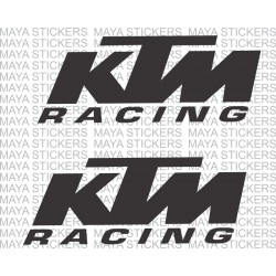 KTM racing stickers in custom colors and sizes