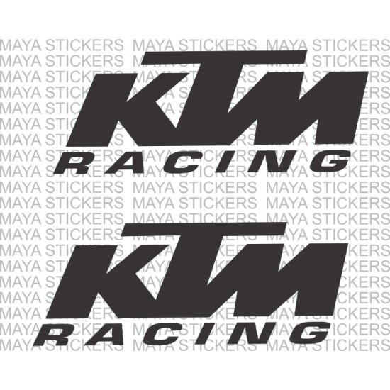 Ktm racing stickers pair of 2 custom colors and sizes available