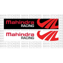 Mahindra Racing windshield sticker for Thar, Scorpio, Bolero, TUV, XUV, KUV, Verito