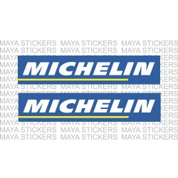 Michelin logo sticker / decal for Bikes and Cars (Pair of 2 stickers)