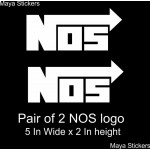 NOS logo sticker decal for bikes and cars.