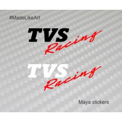 TVS Racing logo stickers for TVS bikes and helmet