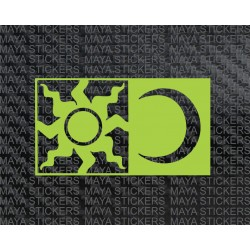 Valentino Rossi Sun and Moon motif sticker for bikes, helmet, cars