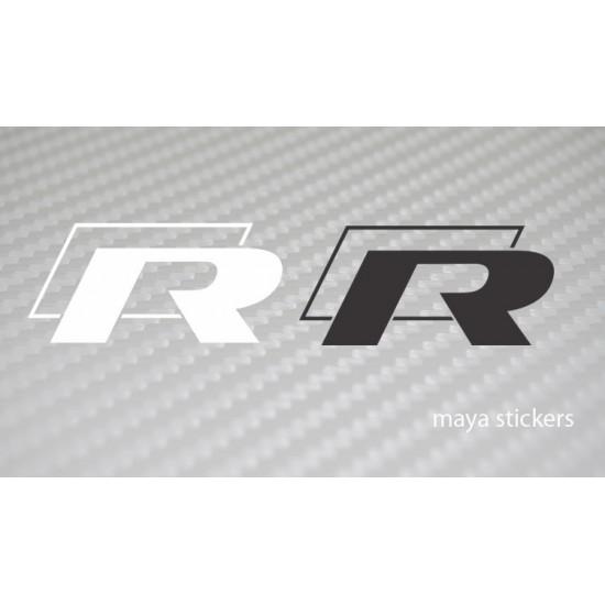 r line rally car style logo sticker for volkswagen cars. Black Bedroom Furniture Sets. Home Design Ideas