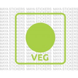 Veg - Vegetarian sign symbol sticker for Wall and doors