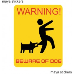 Beware of Dogs funny vinyl sticker / decal sign