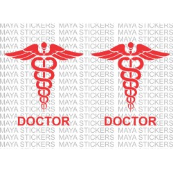 Doctor logo sign sticker / decals for cars, bikes, laptops, doors (pair of 2)