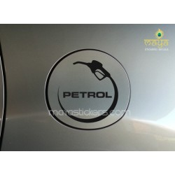 Unique petrol fuel cap sticker / decal for all petrol Cars