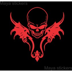 Large size custom skull sticker / decal for bike - motorcyle domes, cars, laptop