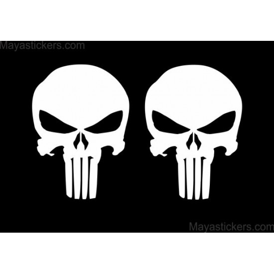 Punisher Skull Decal Sticker Pair Of Two Buy Online India - Custom stickers for bikes