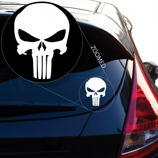 Punisher Skull Decal Sticker Pair Of Two Buy Online India