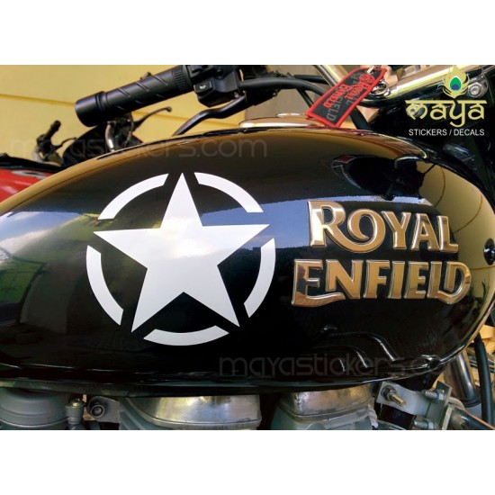 Us military star decal sticker pair of 2 star stickers for bikes cars