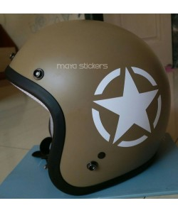 White star sticker for helmets