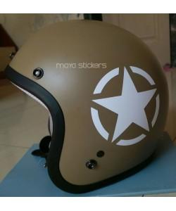 White star sticker for helmets