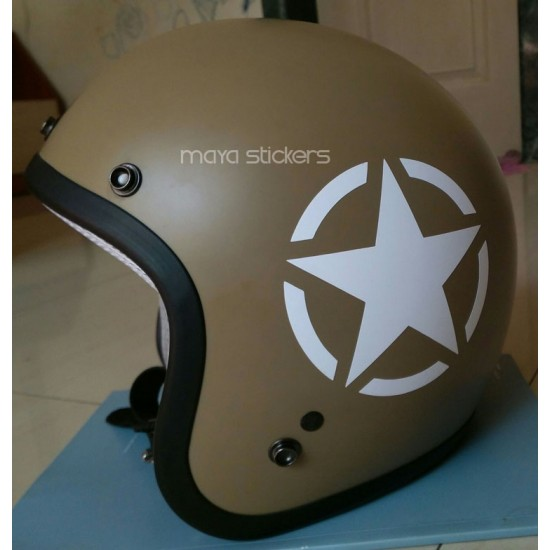 US Military star sticker decal for Royal Enfield and other ...