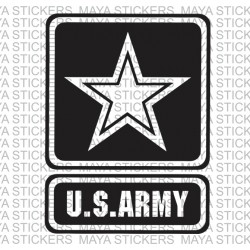 US Army logo decal sticker for Cars, Bikes, Laptop. Custom sizes and colors available.